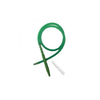 Шланг для кальяна силиконовый HP-73G Зеленый (Soft-Touch) с охлаждением