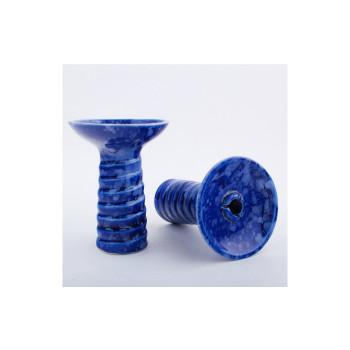 Чаша NJN Hookah Swirl Glaze (сине-белая)