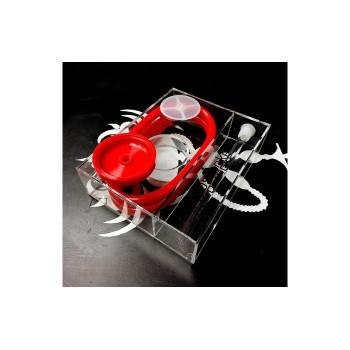 Кальян Nanosmoke Cube Red с подсветкой