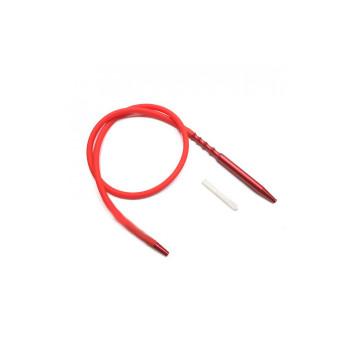 Шланг для кальяна силиконовый с охлаждением Арт Кальян HP-73E Красный (Soft-Touch)