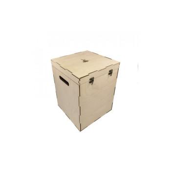 Деревянный кейс для хранения кальяна (27х27х35см)