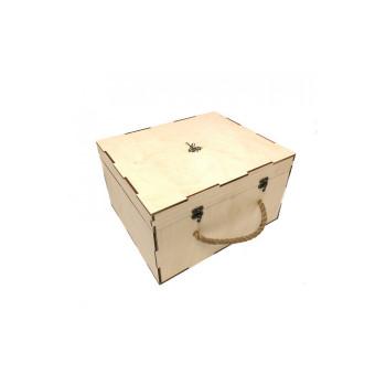 Деревянный кейс для хранения кальяна (31х37х21см)