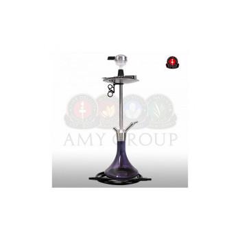 Кальян AMY Deluxe — Stick Steel SS09 Black - 75 см
