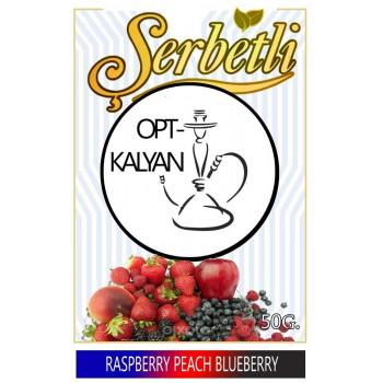 "Табак Serbet Raspberry Peach Blueberry ""Малина персик черника ""  50 g"